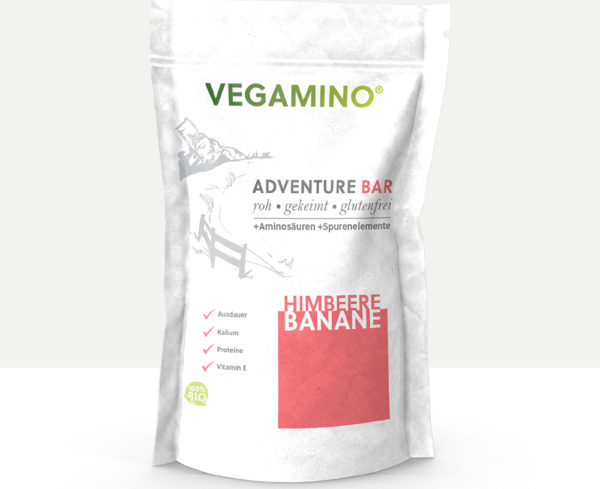 Vegamino Adventure Bar Himbeere Banane